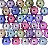 PALE PINK 20mm Platinum Metallic Gumball Beads