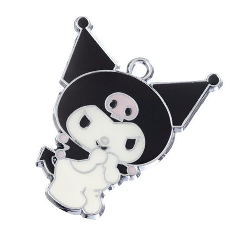 Evil Rabbit with Black Pointy Hat Silver Tone Charm - WhimsyandPOP