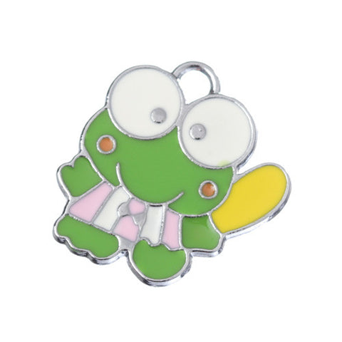 Cute Green Frog Silver Tone Charm - WhimsyandPOP