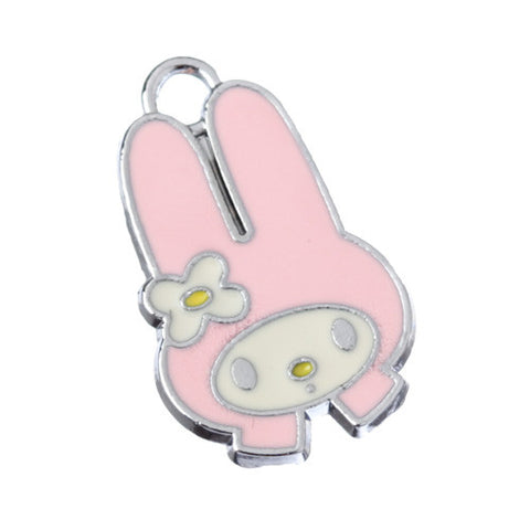 Pink Hat Rabbit Silver Tone Charm - WhimsyandPOP
