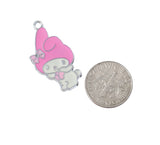 Rabbit with Pink Hat Silver Tone Charm - WhimsyandPOP