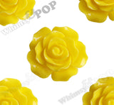 YELLOW 20mm Large Detailed Flower Cabochons - WhimsyandPOP