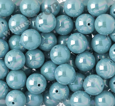 LIGHT BLUE 20mm Glossy AB Gumball Beads - WhimsyandPOP