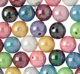 MIXED Color 20mm Glossy AB Gumball Beads - WhimsyandPOP