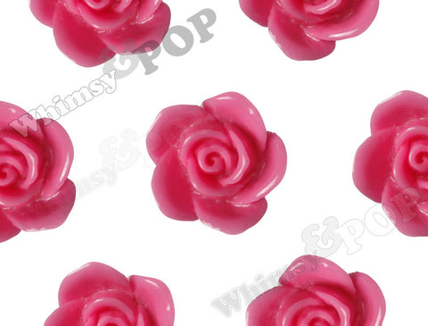 HOT PINK 17mm Flower Beads - WhimsyandPOP