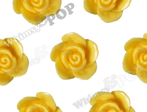 YELLOW 17mm Flower Beads - WhimsyandPOP