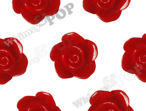 RED 17mm Flower Beads - WhimsyandPOP