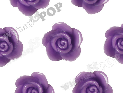 PURPLE 17mm Flower Beads - WhimsyandPOP