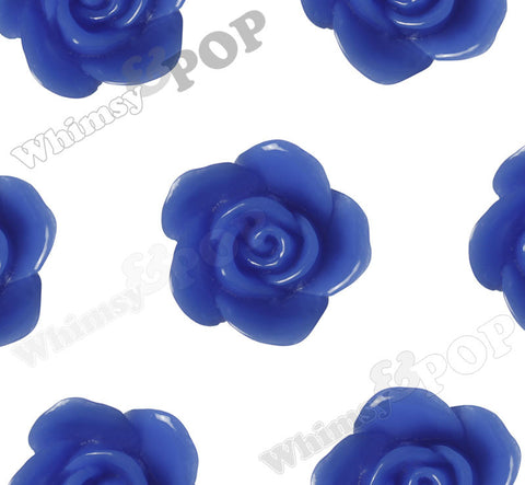 BLUE 17mm Flower Beads - WhimsyandPOP