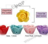 MIXED Color 17mm Flower Beads - WhimsyandPOP