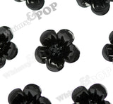 BLACK 13mm Hibiscus Flower Cabochons - WhimsyandPOP