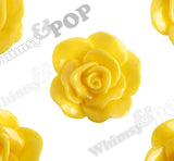 YELLOW 28mm Begonia Flower Cabochons - WhimsyandPOP