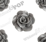 GRAY 28mm Begonia Flower Cabochons - WhimsyandPOP