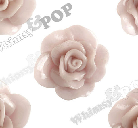 DUSTY MAUVE 28mm Begonia Flower Cabochons - WhimsyandPOP