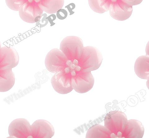 PINK 13mm Hibiscus Flower Cabochons