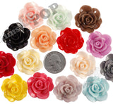 MIXED Color 28mm Begonia Flower Cabochons - WhimsyandPOP
