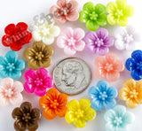 MIXED Color 13mm Hibiscus Flower Cabochons - WhimsyandPOP