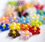 MIXED Color 13mm Baby Daisy Flower Cabochons - WhimsyandPOP