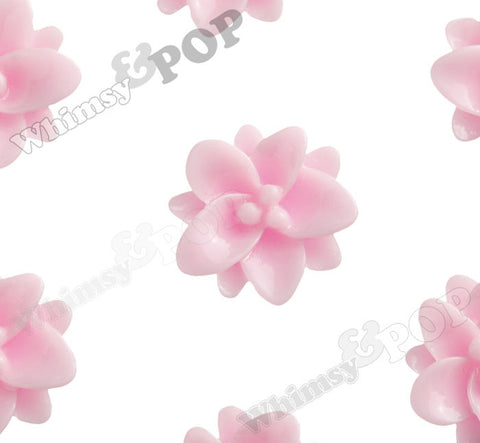 PINK 12mm Small Lotus Flower Cabochons