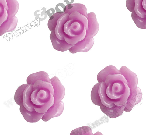 LILAC PURPLE 10mm Small Detailed Flower Cabochons - WhimsyandPOP