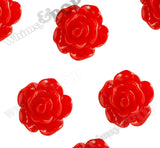 RED 10mm Small Detailed Flower Cabochons - WhimsyandPOP