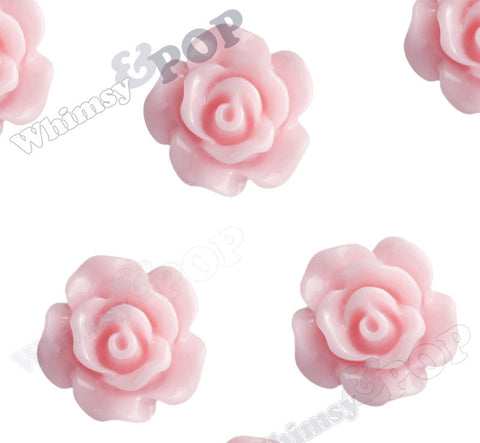 PINK 10mm Small Detailed Flower Cabochons - WhimsyandPOP