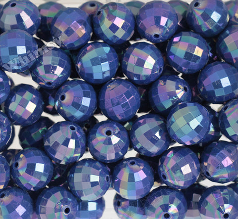 DEEP BLUE 20mm Faceted AB Gumball Beads - WhimsyandPOP
