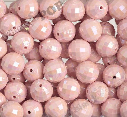 PINK 20mm Faceted AB Gumball Beads - WhimsyandPOP