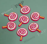 Pink and Yellow Lollipop Candy Cabochons - WhimsyandPOP