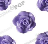 PURPLE 28mm Begonia Flower Cabochons - WhimsyandPOP