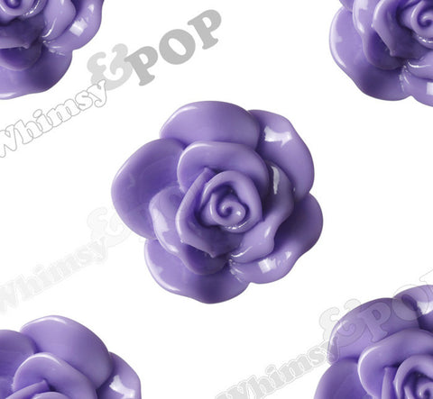 PURPLE 28mm Begonia Flower Cabochons