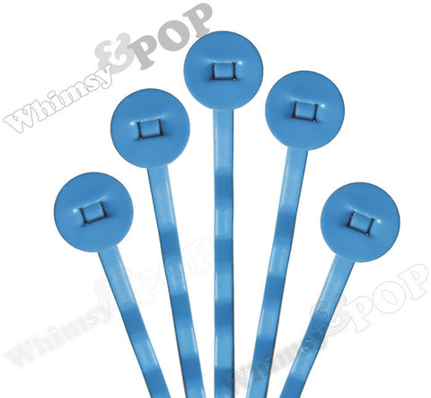 DEEP BLUE 50mm Bobby Pin Blanks - 7mm Glue Pad - WhimsyandPOP
