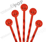 DEEP ORANGE 50mm Bobby Pin Blanks - 7mm Glue Pad - WhimsyandPOP