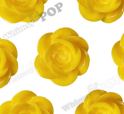 YELLOW 18mm Flower Cabochons - WhimsyandPOP