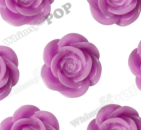 LILAC PURPLE 18mm Flower Cabochons - WhimsyandPOP