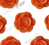 ORANGE 18mm Flower Cabochons - WhimsyandPOP