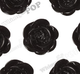 BLACK 18mm Flower Cabochons - WhimsyandPOP