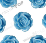LIGHT BLUE 18mm Flower Cabochons - WhimsyandPOP