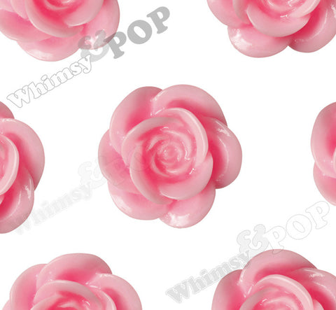 PINK 18mm Flower Cabochons
