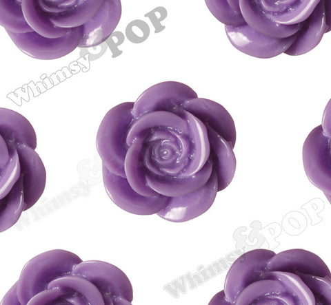 LAVENDER PURPLE 18mm Flower Cabochons - WhimsyandPOP