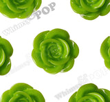 GREEN APPLE 18mm Flower Cabochons - WhimsyandPOP