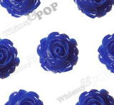 ROYAL BLUE 15mm Vintage Rose Bud Flower Cabochons - WhimsyandPOP