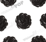 BLACK 15mm Vintage Rose Bud Flower Cabochons - WhimsyandPOP