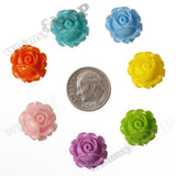 MIXED Color 15mm Vintage Rose Bud Flower Cabochons - WhimsyandPOP