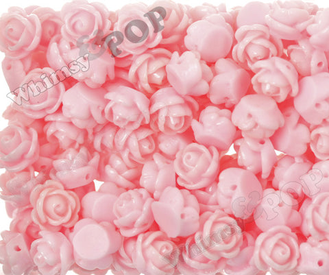 PINK 9mm Rose Bud Flower Beads - WhimsyandPOP