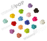 WHITE 9mm Rose Bud Flower Beads - WhimsyandPOP
