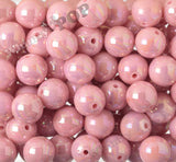 PINK 20mm Glossy AB Gumball Beads - WhimsyandPOP