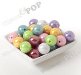YELLOW 20mm Glossy AB Gumball Beads - WhimsyandPOP