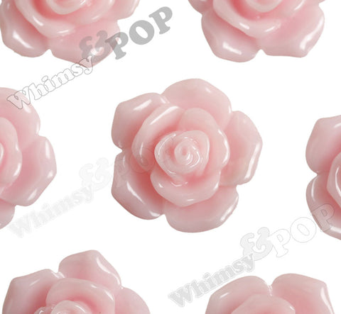 PINK 16mm Pointy Rose Flower Cabochons