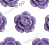 LAVENDER PURPLE 16mm Pointy Rose Flower Cabochons - WhimsyandPOP